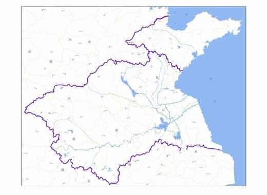 三级区14 个:其中,淮河流域12个,山东半岛2个.